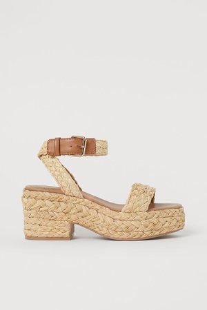 Platform sandals - Beige - Ladies | H&M GB