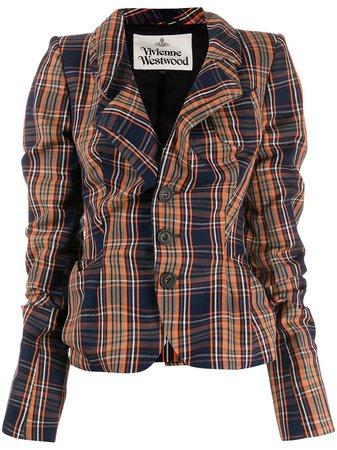 Vivienne Westwood Blazer Con Motivo Tartan - Farfetch