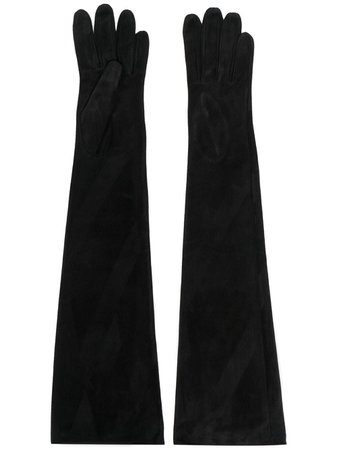 Manokhi long-length suede gloves - FARFETCH