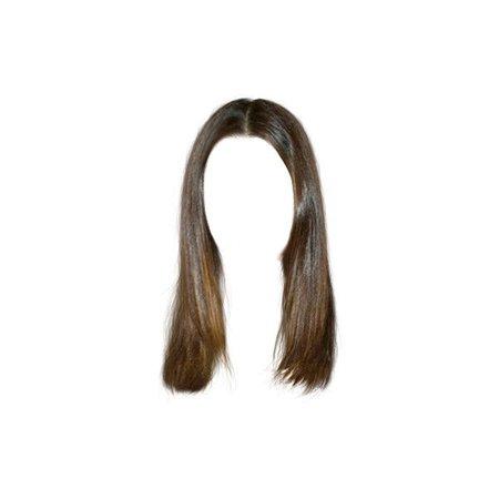 brown hair •