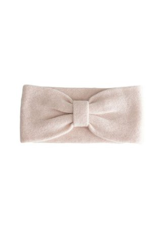 Other Stories Cashmere Knit Bow Headband - Light Pink - Headbands - & Other Stories