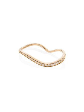 Sophie Bille Brahe 18kt Yellow Gold Alessi Diamond Double Ring - Farfetch