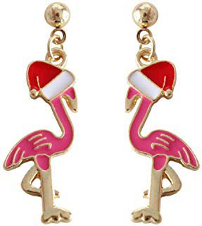 Flamingo Christmas Earring