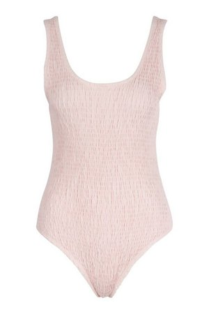 Textured Scoop Neck Bodysuit | boohoo