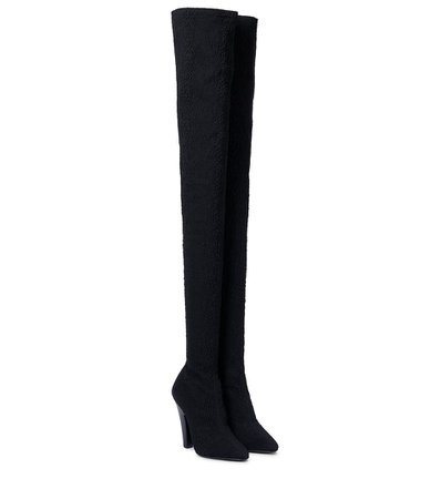SAINT LAURENT 68 stretch-canvas over-the-knee boots