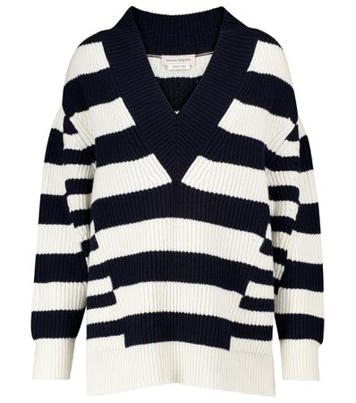 Alexander McQueen, Striped wool and cashmere sweater