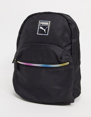 Puma Essentials mini backpack in black | ASOS