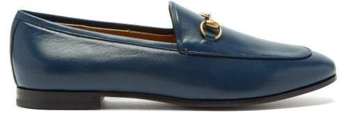 Jordaan Horsebit Leather Loafers - Womens - Navy