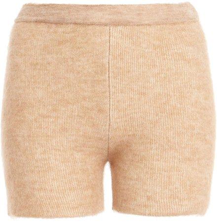 Jacquemus Arancia Knit Mini Shorts