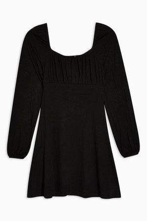 Black Blouson Mini Dress | Topshop