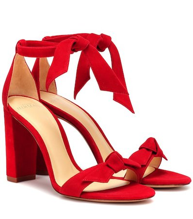 Clarita Block suede sandals