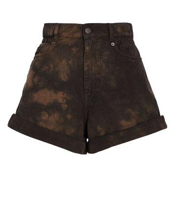 Retrofête Haisley Acid Wash Denim Shorts | INTERMIX®