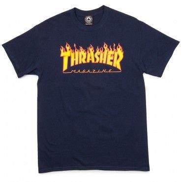 Thrasher Flame T-Shirt - Navy
