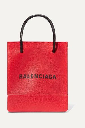 Balenciaga | XXS printed textured-leather tote | NET-A-PORTER.COM