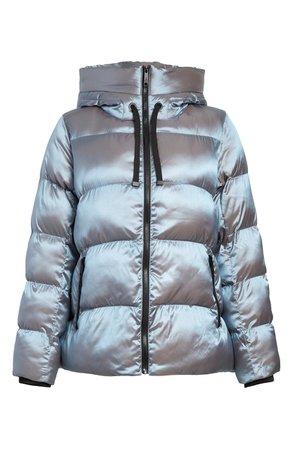 Sam Edelman Iridescent Water Repellent Hooded Puffer Jacket | Nordstrom