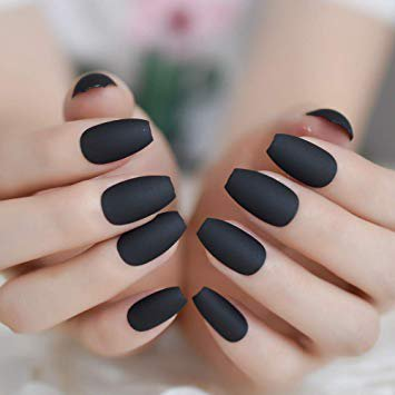 acrylic nails - black