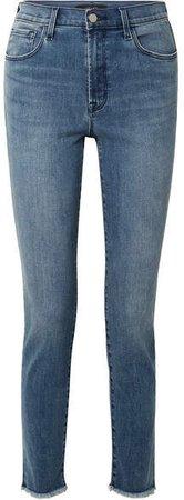 Ruby 30 High-rise Slim-leg Jeans - Mid denim
