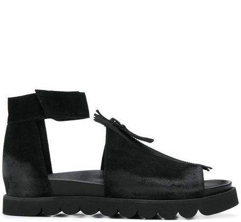Rundholz Ankle Strap Zip Sandals