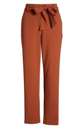 Halogen® Tie Waist Twill Ankle Pants (Regular & Petite)   Nordstrom