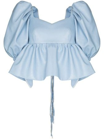 ANOUKI open-back puff-sleeve Blouse - Farfetch