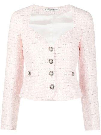 Alessandra Rich button-up Tweed Jacket - Farfetch