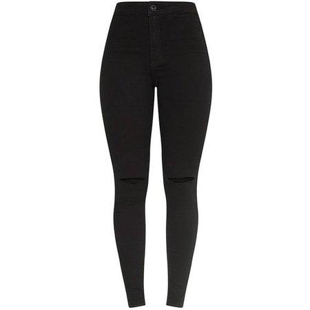 Jovie Black Knee Rip Skinny Jean