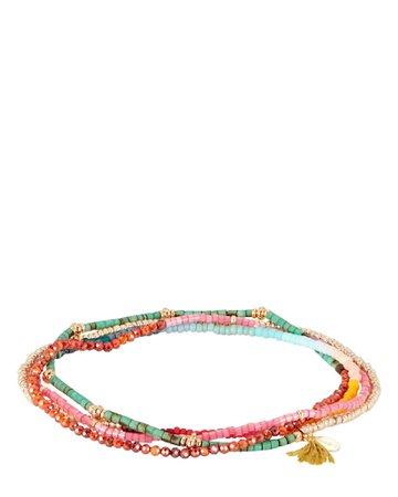 SHASHI The Jane Layered Beaded Bracelet   INTERMIX®