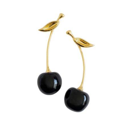 Porcelain Black Cherry Earrings | POPORCELAIN | Wolf & Badger