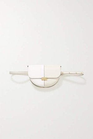 Anna Two-tone Leather Belt Bag - White