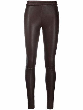 Drome mid-rise leather leggings - FARFETCH