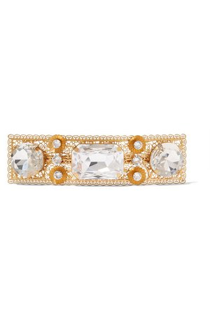 Dolce & Gabbana | Gold-plated crystal hairclip | NET-A-PORTER.COM