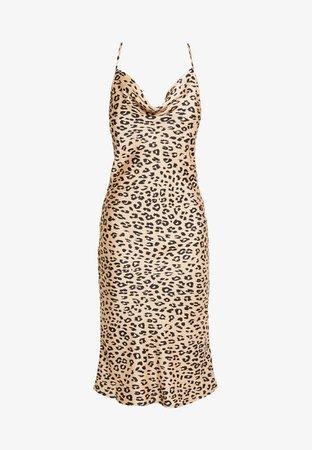 Bardot LEOPARD SLIP DRESS - Vardagsklänning - beige/black - Zalando.se