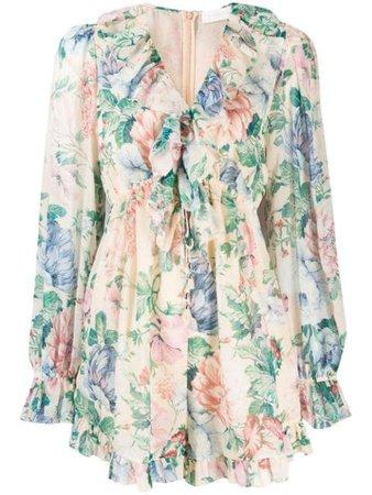 Zimmermann Floral Print Dress - Farfetch