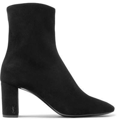Lou Suede Ankle Boots - Black