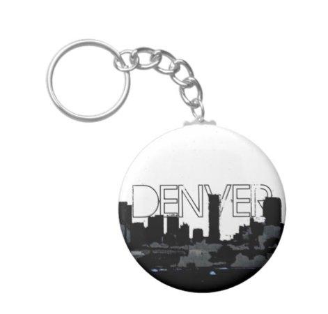 Denver Skyline Keychain by #ArtisticAttitude @artisticattitude