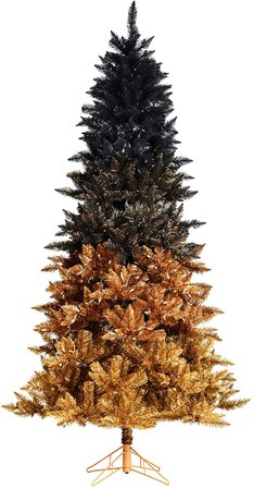 Amazon.com: Vickerman Black Gold Ombre Artificial Christmas-Trees, 7.5: Home & Kitchen