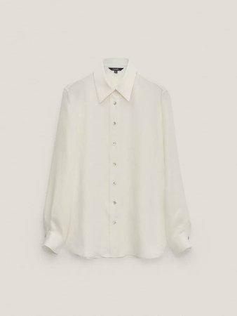 Flowing 100% cupro shirt - Women - Massimo Dutti