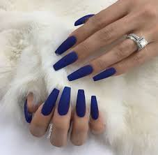 blue nails long matte nails - Google Search