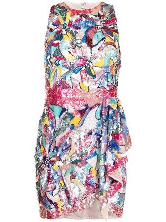 Zuhair Murad sequinned floral mini dress