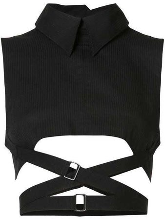Ann Demeulemeester cropped high neck vest