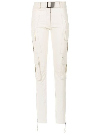 Shop white Andrea Bogosian straight fit trousers with Express Delivery - Farfetch