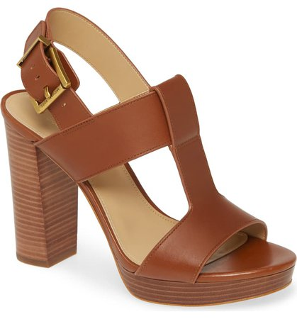 MICHAEL Michael Kors Becker Block Heel Sandal (Women) | Nordstrom