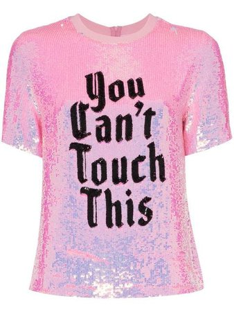 Ashish x Browns You can't Touch This Sequin T-shirt - Farfetch