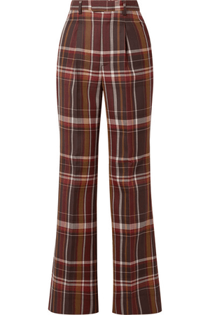 70s Plaid Wide Leg Pants
