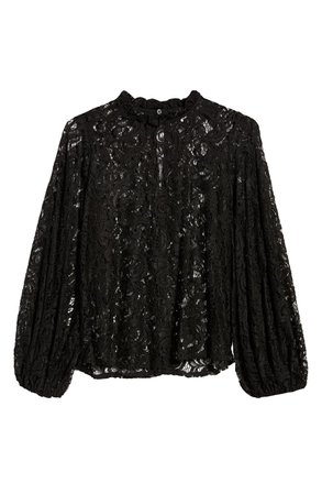 Topshop Balloon Sleeve Lace Top | Nordstrom