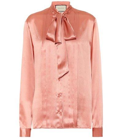 Silk-satin blouse