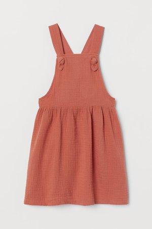 Overall Dress - Rust orange - Kids   H&M US