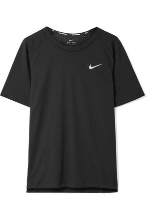 NIKE Tailwind perforated Dri-FIT stretch-jersey T-shirt