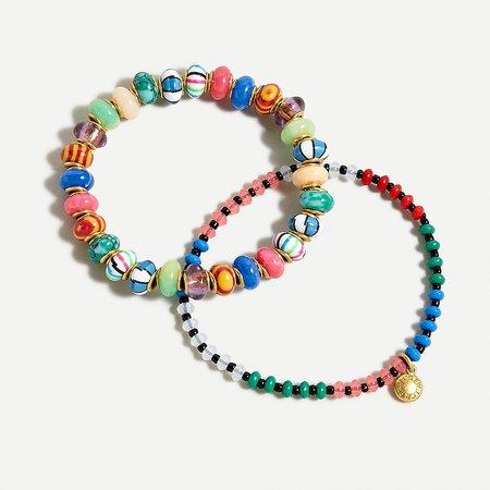 J.Crew: Multi-beaded Bracelet Set For Women