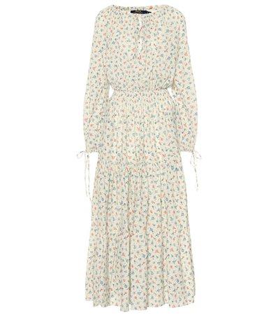 Floral cotton maxi dress